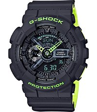 GA-110LN-8AER Layered Neon 51.2mm